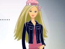 Одеть Барби в модельный наряд