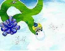 Губка Боб снеговик Катать снежные шарики