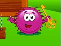 Фиолетовый мячик