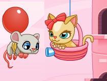 Игра про котенка и воздушный шарик