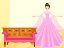 Розовый кукольный домик