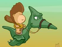 Помочь Риксу на драконе