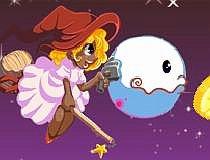 Игра про летающую ведьмочку и ананасы