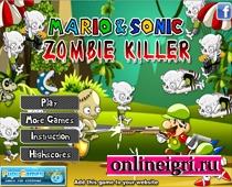 Соник и Марио против зомби