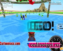 Марио гонка на воде