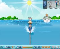 Том и Джерри погоня на лодке