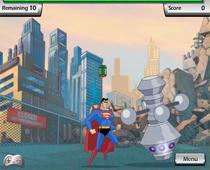 Супермен защищает город