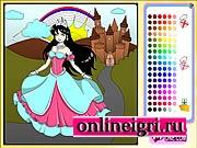 Замок принцессы игры раскраски