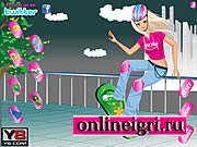 Потрясающая скейт борт девушка