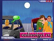 поцелуи в такси