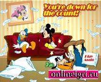 Disney Микки бой подушками два игрока