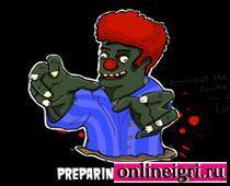 Зомби давилки с красными волосами