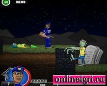 Зомби воин на кладбище