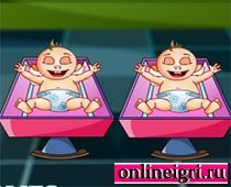 Барби нянечка за малышами