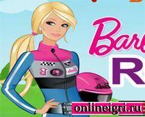 Барби в комбинезоне и с мотоциклом