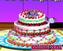 Барби учится украшать торт
