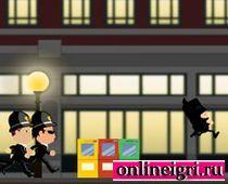 Бэтмен убегает от полицейских