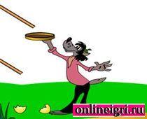 Ну погоди: яйца в корзинку сбор