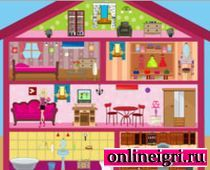 Кукольный домик Барби и его обустройство