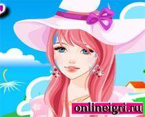 Барби с розовыми волосами