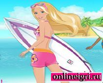 Барби русалочка и доска для серфинга