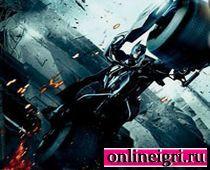 Бэтмен на своем чудо мотоцикле