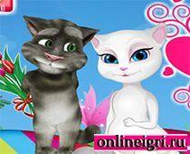 Говорящий кот Том: с Анжелой