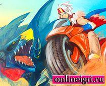 Покемоны: в гонках на мотоциклах