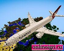 Майнкрафт стиль самолет большой