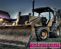 Непривычное вождение трактора
