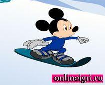 Микки Маус стал сноубордистом