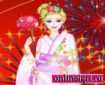 Одеваем кимоно на Новый год