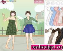 Для двоих для девочек про одевалки