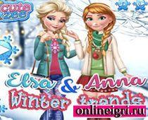 Дресс ап про Эльзу и Анну Холодное сердце