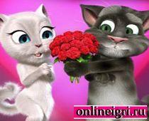 Говорящий кот Том: дарит цветы Анжеле