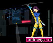 Одевалка девочки супергероя Люди икс