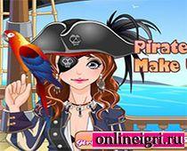 Одень прелестную пиратку