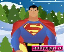 Супермен катается на доске