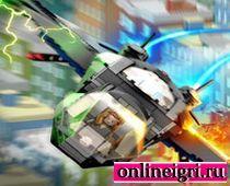 Лего мстители управляют самолётом