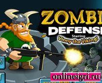 Викинги защищают крепость от зомби