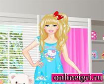 Барби одевалка в пижаму