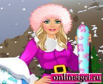 Барби и горные лыжи