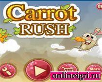 Кролик с морковкой летает