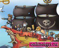 Злобные Пираты на корабле