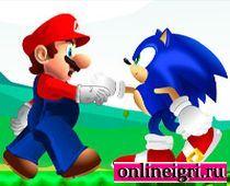 Марио против Соника