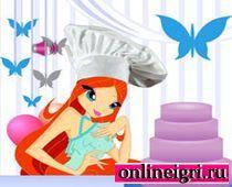 Винкс Блум украшает тортики
