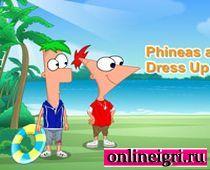 Одевалка: Финис и Ферб составляют гардероб
