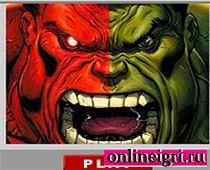 Сражение Красного Халка против оригинала