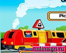 Машинист поезда Лего