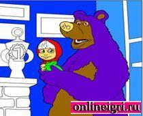Раскраска про Машу и Медведя